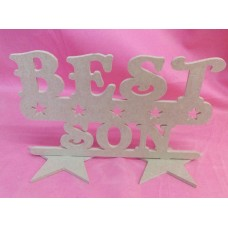 4mm MDF Best  Son  Plaque 200mm wide