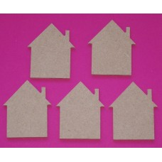 4mm Thick MDF House 50mm in size Pack of 10