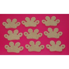 4mm Thick MDF Paw Bunting pack of 10