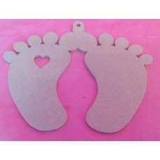 4mm MDF Joined baby feet 190mm wide