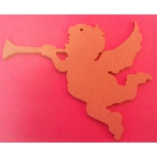 4mm Thick Cherub with trumpet starts at 100mm