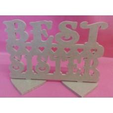4mm MDF Best sister plaque