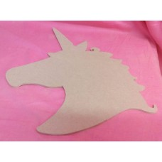 4mm MDF Unicorn plaque 300mm tall