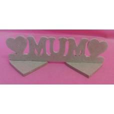 4mm MDF Standing Mum plaque