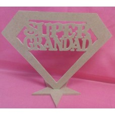 4mm Thick MDF Standing super GRANDAD 160mm tall