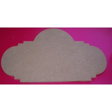 4mm Thick MDF  Ornate plaque 200mm wide pack of 2