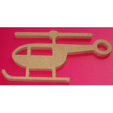 MDF Helicopter 100mm in size pack of 2