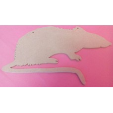4mm Thick MDF Rat shape at 100mm in size pack of 3