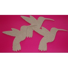 4mm Thick MDF Humming Bird 140mm wide Pack of 3