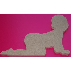MDF Crawling baby 100mm in size pack of 3