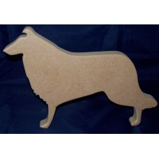 18mm Thick MDF Rough Collie  150mm tall