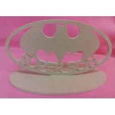 4mm Thick MDF Super bat Son plaque