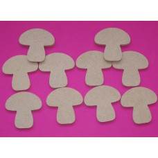 4mm Thick MDF Toadstool 50mm in size pack of 20