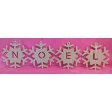 4mm Thick MDF NOEL snowflakes 200mm
