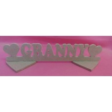 4mm MDF Standing  Granny  plaque