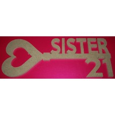 MDF Key with 21 for Sister