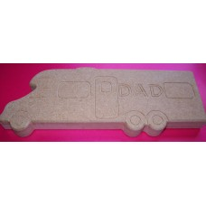 18mm MDF Standing Camper van with Dad Engraved on to it