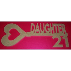 MDF Key with Daughter at 21