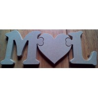 18mm  standing  Jigsaw linked letters