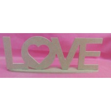 4mm Thick MDF Standing love plaque