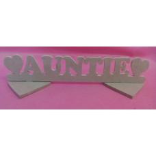 4mm MDF Standing Auntie plaque