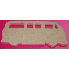 MDF VW Camper no wheel detail 100mm in size pack of 3
