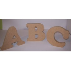 "18mm Thick An MDF Freestanding Letter in ""Cooper Black"" font 150mm tall"