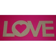 4mm Thick MDF LOVE Plaque 220mm long