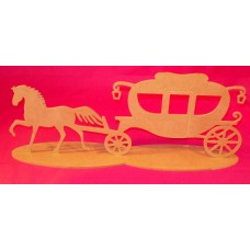 4mm Thick MDF Cinderella coach and horse