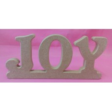 18mm Thick MDF Standing Word JOY