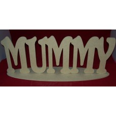 4mm Thick MDF MUMMY Freestanding plaque 380mm wide
