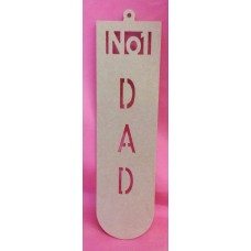 4mm MDF NO1 Dad plaque 250mm tall