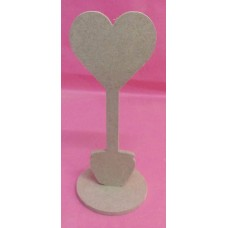 4mm Thick MDF Large Flower pot heart
