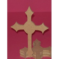 6mm Thick MDF Fancy Cross 150mm high