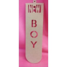 4mm MDF New  Boy plaque 250mm tall