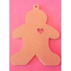 4mm MDF Gingerbread man With loop starts at 100mm