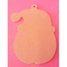 4mm MDF santa head with loop starts at 50mm size