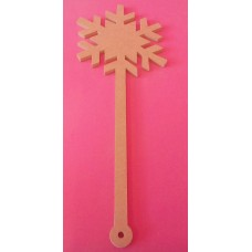 6mm Thick MDF Snowflake wand QTY 1