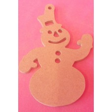 4mm MDF Snowman With cut parts  Starts at 100mm