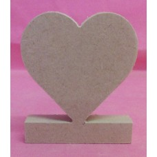 12mm MDF freestanding heart x 3