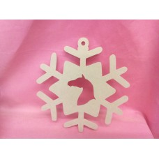 4mm MDF  Horse head  Snowflake 200mm