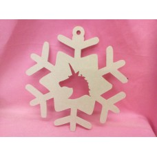 4mm MDF Unicorn Snowflake 200mm